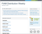 FIAM Distribution Weekly